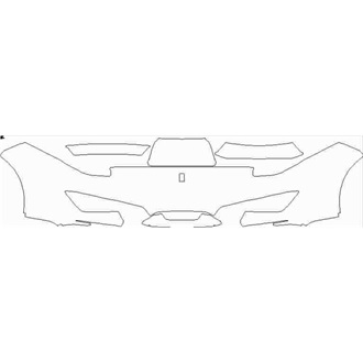 2018-2020 Ferrari 488 Pista Coupe Bumper without washers pre cut kit
