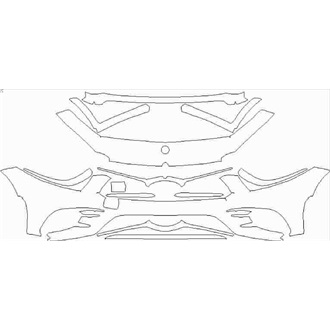 2018- Mercedes CLS Class 53 Front Bumper without Sensors pre cut kit