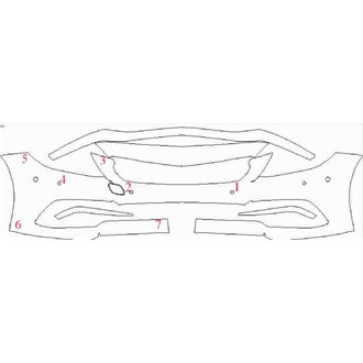 2018- Mercedes CL Class AMG 63, AMG 63 S Coupe Front Bumper with Sensors pre cut kit