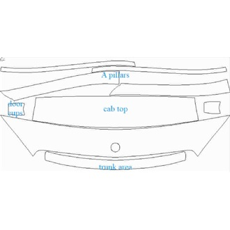 2018- Mercedes C Class Base Coupe Wear & Tear for Panoramic Sunroof pre cut kit