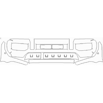 2018- Mercedes G Class G63 Front Bumper with Sensors pre cut kit