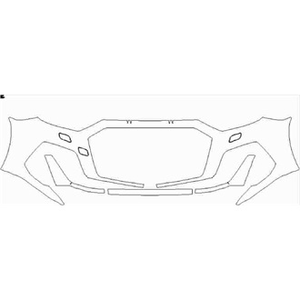 2019- Audi A1 S Line Front Bumper with washers pre cut kit