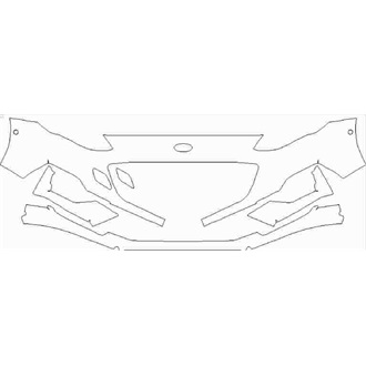 2019- Ford Focus ST Line 5 Door, Estate Front Bumper with Sensors pre cut kit