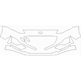 2019- Ford Focus ST Line 5 Door, Estate Front Bumper without Sensors pre cut kit
