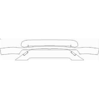 2019- Toyota RAV4 Dynamic Front Lower Bumper with Tow Holes pre cut kit