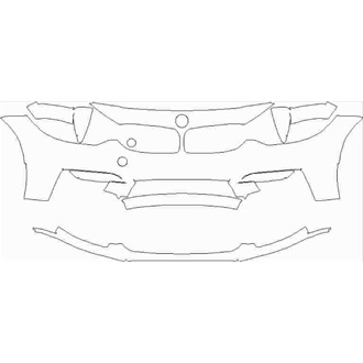 2018-2020 BMW M3 CS Saloon Front Bumper without Washers, Sensors, and Side Cameras pre cut kit