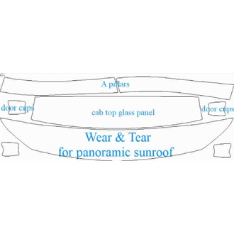 2020- Mercedes CLA Class AMG 35 Shooting Brake  Wear & Tear for Panoramic Sunroof pre cut kit