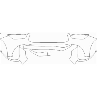 2020- Mercedes GLE Class AMG 63 S SUV Front Bumper without Sensors and Center Camera pre cut kit