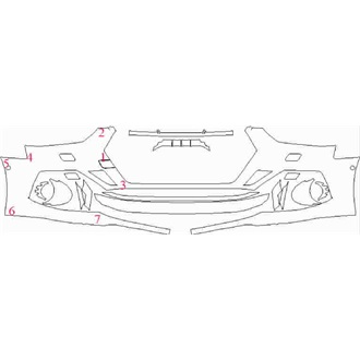 2021- Audi RS5 Coupe Front Bumper with Sensors and Washers pre cut kit