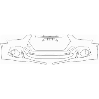 2021- Audi RS5 Coupe Front Bumper with Sensors pre cut kit