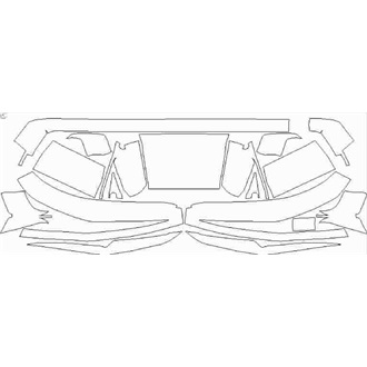 2021- BMW M4 Competition Rear Diffuser pre cut kit