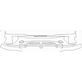 2021- Bentley Bentayga Speed Front Bumper without Sensors pre cut kit