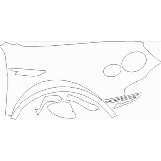 2021- Bentley Bentayga V8, Hybrid Right Side Fender pre cut kit