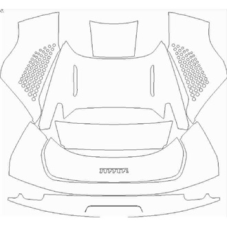 2021- Ferrari SF90 Spider Rear Deck Lid with FIORANO Pack pre cut kit