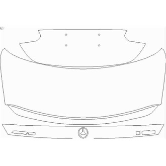 "2021- Mercedes E Class E63S Saloon Rear Deck Lid with Spoiler with ""AMG"" and ""E 63S"" Emblems pre cut kit"