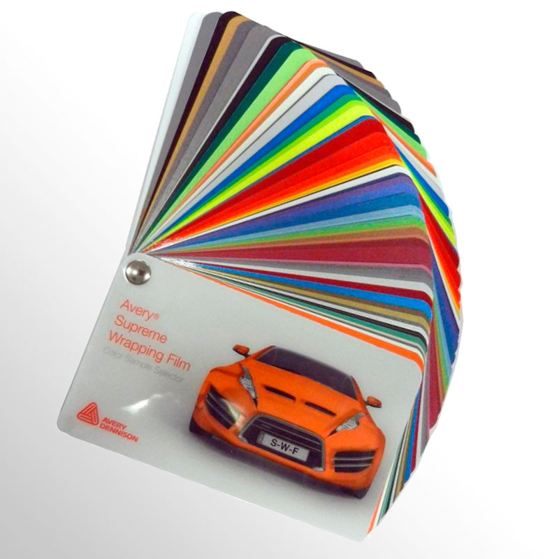 Car wrapping film swatchbooks