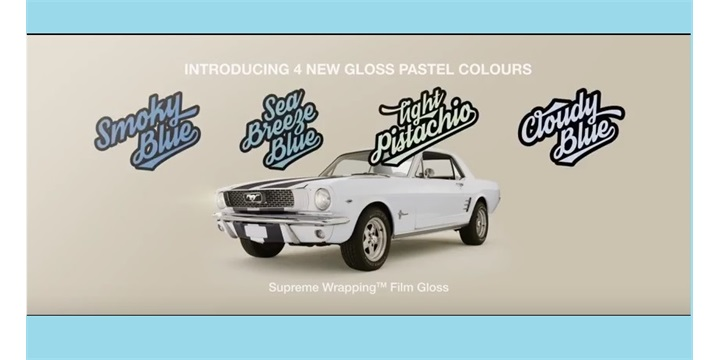 New gloss pastel Supreme Wrapping Films by Avery Dennison