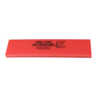 "Fusion Red Line Extractor 3/8"" squeegee blade, 20 cm long, durometer 90, no bevel"