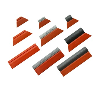 "Fusion Turbo Pro Orange 8"" squeegee for window- and paint protection film, mainly for smaller areas, 20 cm wide, 92 duro"